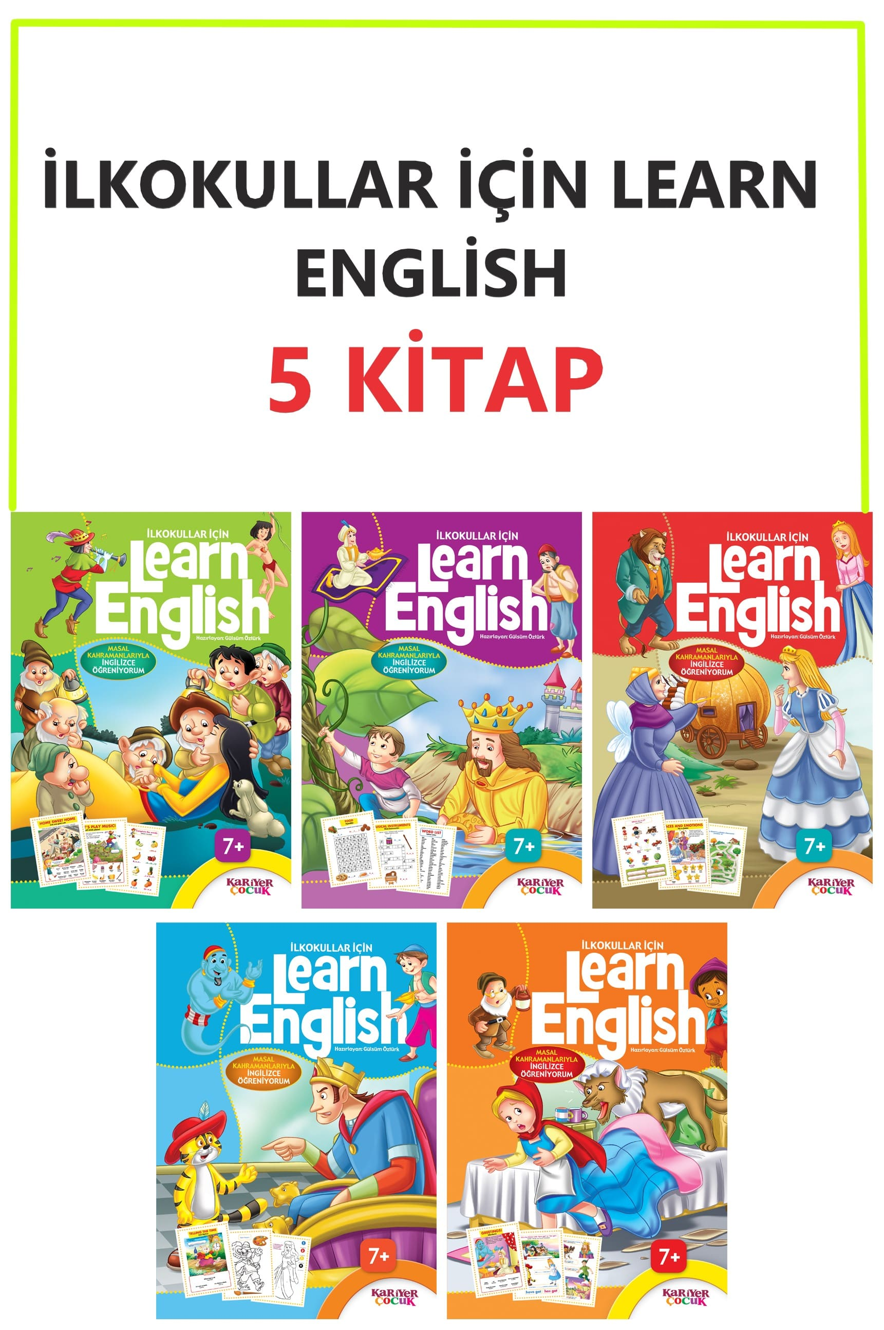 İLKOKULLAR İÇİN LEARN ENGLİSH 5 KİTAP SET
